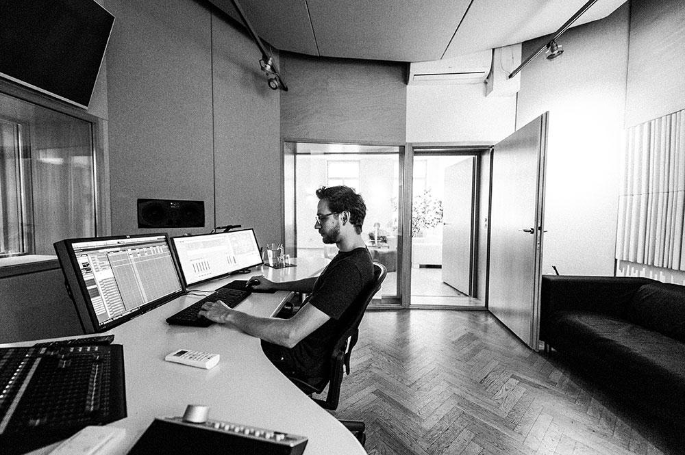 Blautöne Tonstudio Studio 1